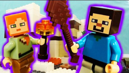 樂高Minecraft在現實生活中/聖誕節我的世界/動畫視頻磚電影