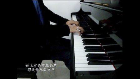 电影芳华主题曲《绒花》 钢琴演奏版 黑白81