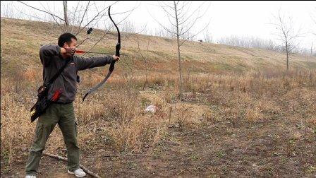 超给力美洲猎弓名不虚传!30米外指哪射哪