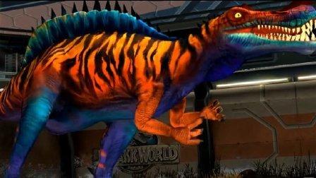侏罗纪世界游戏第175期恐龙争霸赛战斗中的小智慧瞒天过海战术恐龙公园★白跟我磨叽