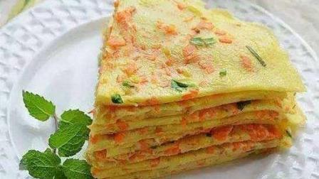 早餐吃西红柿鸡蛋饼既营养又健康, 做起来非常简单, 五分钟就能学会!