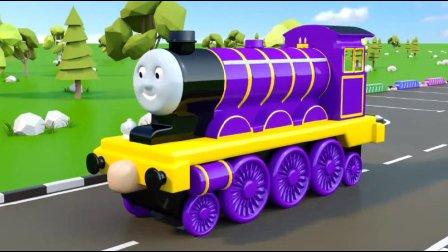 认识彩虹托马斯小火车玩具动画视频57