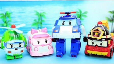 挖掘机视频表演大全挖土机玩具视频 玩具50 汽车总动员赛车总动员变形警车珀利94