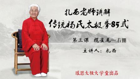 扎西老师讲解传统杨氏太极拳85式第3课