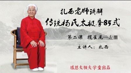 扎西老师讲解传统杨氏太极拳85式第2课
