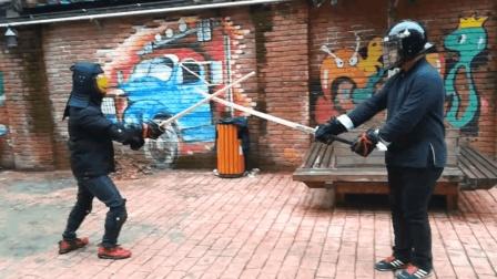 中西剑法交流, 苗刀VS德国双手剑, 孰强孰弱一试便知