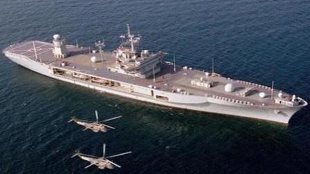 """美海军""""蓝岭""""号指挥舰完成升级再次下水"""