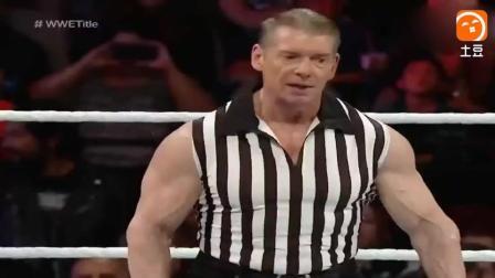 罗曼大帝遭大白鲨暴揍, 最后罗曼直接把老板KO掉!