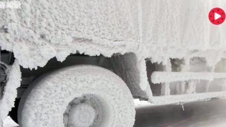 """南方司机到北方送货 , 不懂停车规矩货车变成了""""冰车"""","""