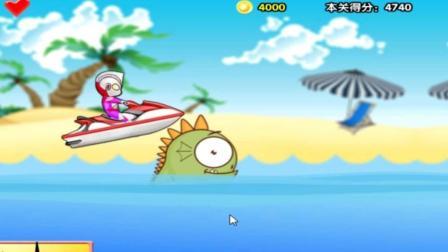 迪迦奥特曼水上开船比赛玩具动画视频