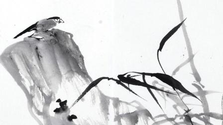 国画壸口瀑布画法视频 工笔画淡彩设色技法