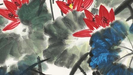 中国美术学院国画人物教学 国画树木的画法视频教程