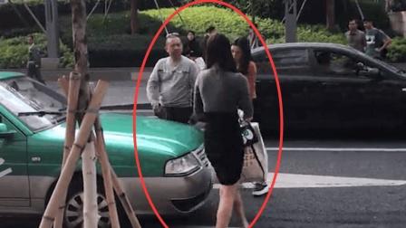 女司机坐车不给钱, 被阻拦怒踹车门, 接下来一幕, 她就后悔了