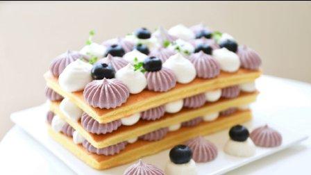蓝莓酸奶 奶油裸蛋糕~(附自制酸奶方法)