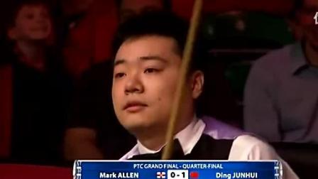 丁俊晖实力拿下147, 最后一颗红球走位真是激动时刻