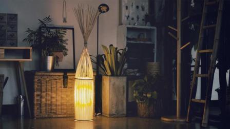 手工达人教你自制竹编灯, 传统的手工艺品竟然这么美, 简约不简单!