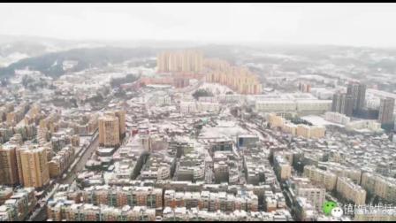 航拍: 云南一个百万人口县城的雪景!
