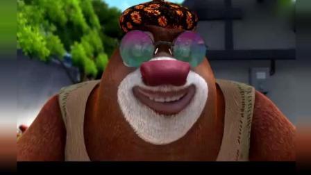 熊出没: 熊二果然认不出戴假发的光头强, 完全被糖葫芦迷住了