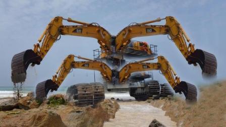 这是我见过最大挖掘机最快最新的技术, 重型挖掘机工作技能!