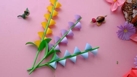超级简单的折纸装饰花, 2分钟就能学会, 折几支插在花瓶太美了