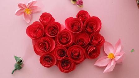 最简单的玫瑰花, 卷一卷剪一剪就能完成, 当作装饰很特别哦