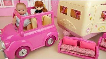0401 - 婴儿娃娃野营车玩具娃娃多利野餐玩