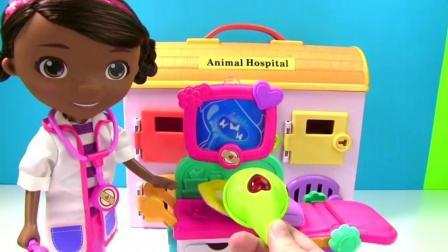 朵拉小医生在给你介绍医用玩具, 学习医用器材