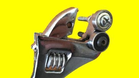 男子把扳手加工成这样居然比以前更好用了, 真不愧是天才发明家