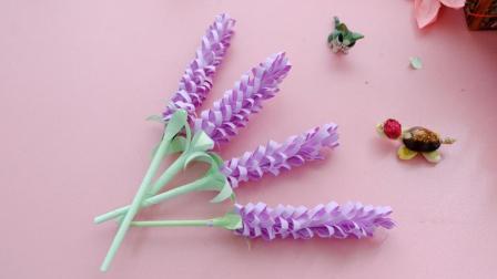浪漫的折纸薰衣草很多人都不会, 其实很简单, 当作装饰美极了!