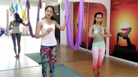 空中瑜伽初学教程, 美女瑜伽视频教程