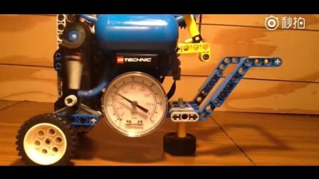 乐高空气压缩机, 你们猜能到多少压力?