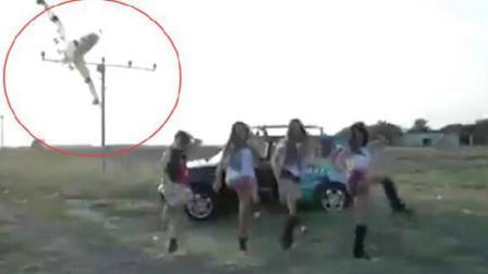 几名女子排练无意中拍下的, 如果不是有视频, 谁会相信?