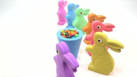 可爱的小兔子爱模拟沙, 快乐学习颜色