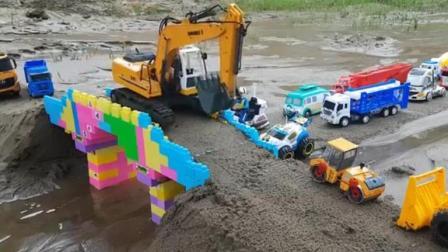 汽车总动员之认识挖掘机玩具动画视频