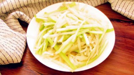 不知晚饭怎么吃, 就炒芹菜土豆丝