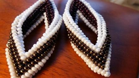 串珠流光 米珠编织耳坠