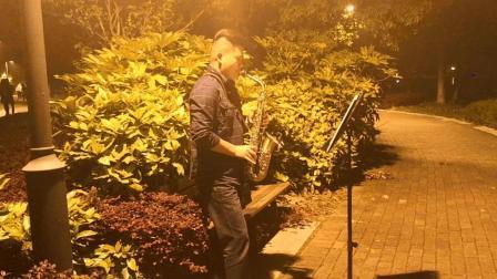 萨克斯演奏: 饭后散步偶遇牛人公园里萨克斯演奏《酒干倘卖无》