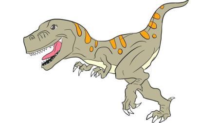 恐龙世界之霸王龙儿童亲子简笔画