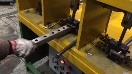 不锈钢防盗网全自动冲孔机切断机, 方管圆管异型管, 冲方孔圆孔菱形梅花各种形状