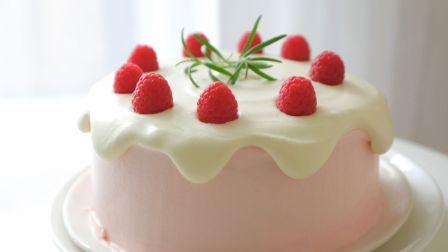 树莓奶油 滴落蛋糕~老夫的少女心已爆棚