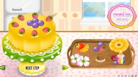 制作冰淇淋之制作各种颜色美味蛋糕动画