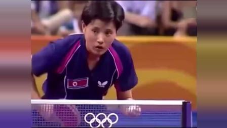 张怡宁乒乓球比赛中冷酷无情, 吊打对手全程无表情, 就是这么霸气
