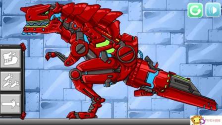 组装机械暗黑霸王龙  恐龙总动员 恐龙世界 霸王龙1