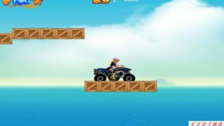 铠甲勇士捕将英雄归来游戏系列之铠甲勇士摩托车障碍赛车动画玩具