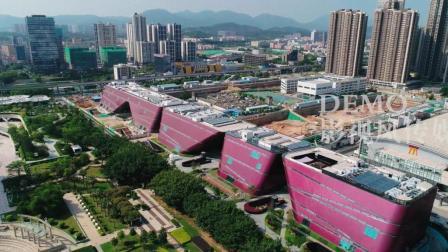 深圳龙岗龙城广场航拍视频素材 4K高清