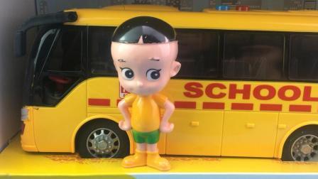 大头儿子玩转校车巴士玩具工程车