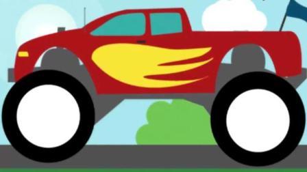 汽车总动员卡通 超级卡车之变形大脚车越野障碍赛玩具