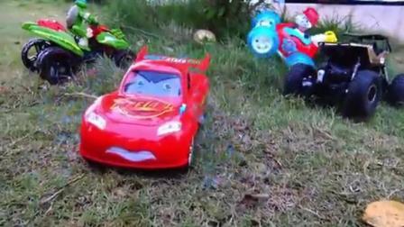 小汽车的童话梦视频小汽车版英雄救美之小汽车欧力大冒险找宝石玩具