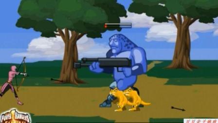 恐龙战队与雷翼电王大战玩具动画视频