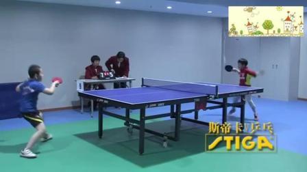 这小家伙的乒乓球是在少林寺学的么, 活脱脱一个迷你版扫地僧